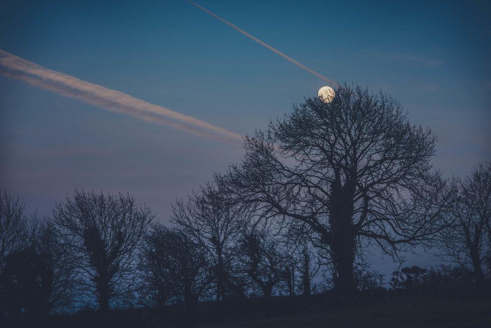 Ireland. Castle. Old castle. irish history. history. Rock of Dunamase. blue sky. rock. pathway. adventure. travel. moon. moonrise.jpg