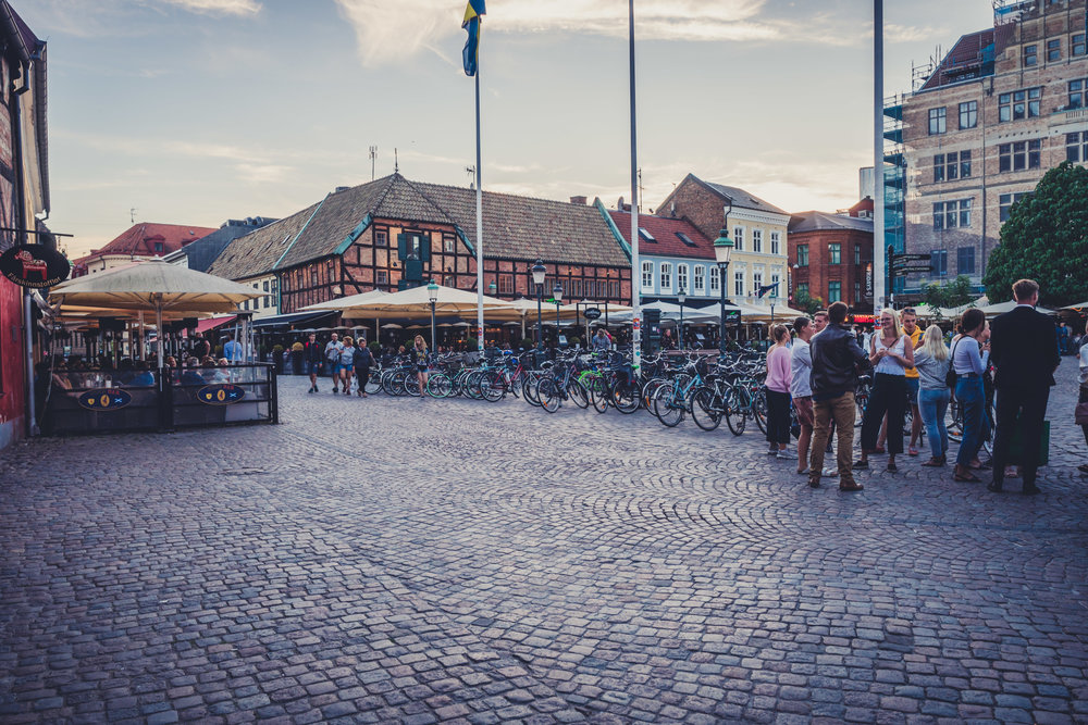 malmo. sweden. travel. scandinavia. history. viking. city. old. travel blog. palace. old town square palace. many people.jpg
