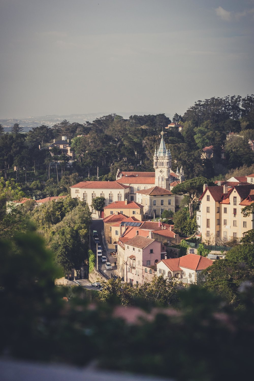 Portugal. Travel. Sintra. Sunshine. Hotel. History. view. room with a view. pena palace.  palace. town. old town. castle. castelo dos mouros. bar view.jpg