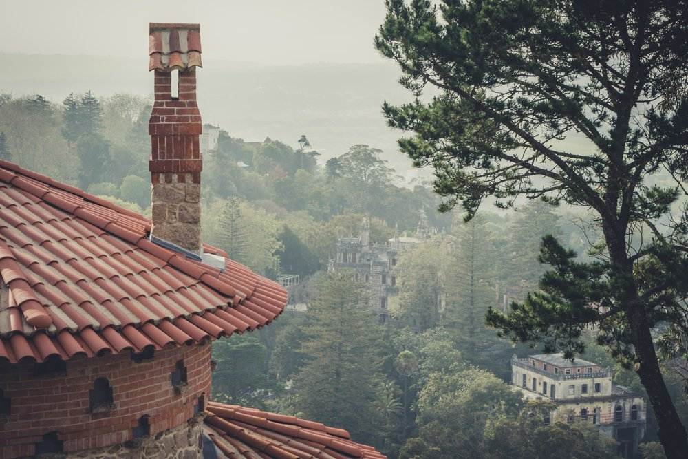 Portugal. Travel. Sintra. Sunshine. Hotel. History. view. room with a view. pena palace.  palace. town. old town. castle. castelo dos mouros. on the bridge. Convent of the Capuchos. looking over t.jpg