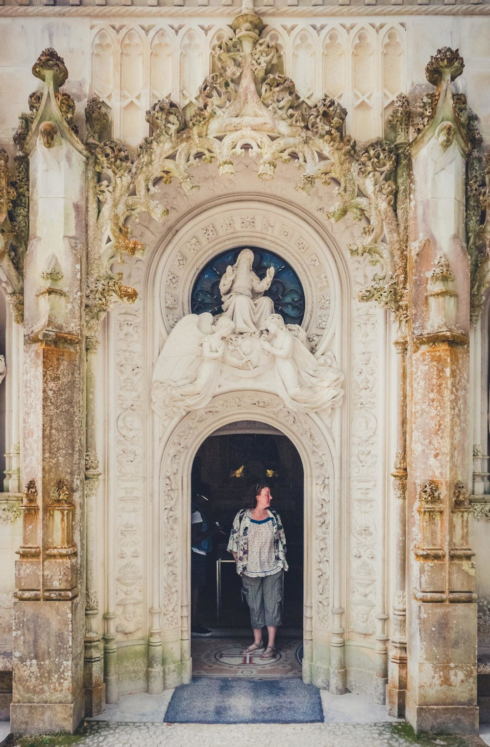 Portugal. Travel. Sintra. Sunshine. Hotel. History. view. room with a view. pena palace.  palace. town. old town. castle. castelo dos mouros. on the bridge. Quinta da Regaleira.jpg