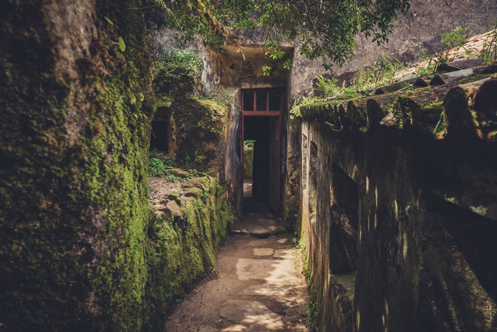 Portugal. Travel. Sintra. Sunshine. Hotel. History. view. room with a view. pena palace.  palace. town. old town. castle. castelo dos mouros. on the bridge. Convent of the Capuchos. moss.jpg
