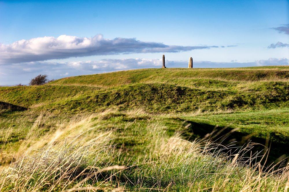 Hill of tara. ireland. history. irish. golden light. travel. blog. autumn. colour. celtic. gaelic. hills of tara and standig stone.jpg