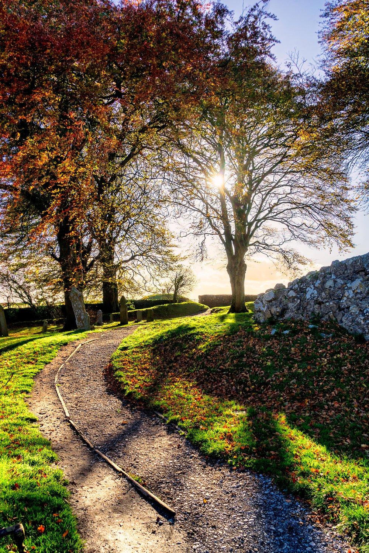 Hill of tara. ireland. history. irish. golden light. travel. blog. autumn. colour. celtic. gaelic. path..jpg