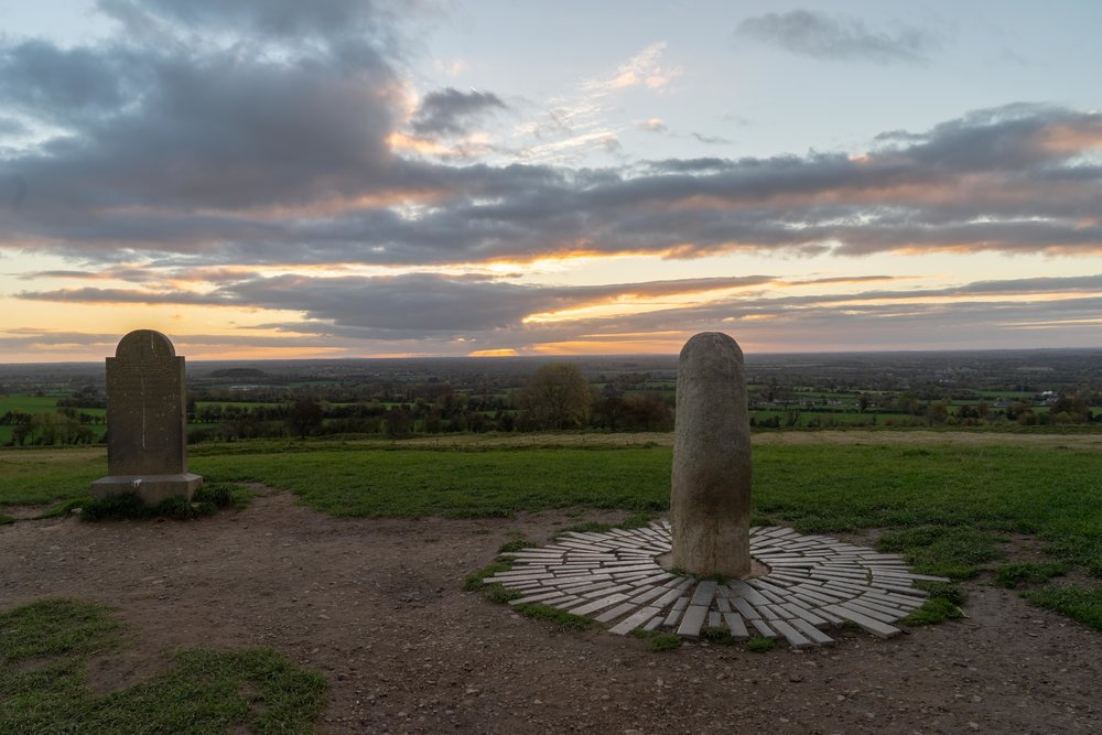 Hill of tara. ireland. history. irish. golden light. travel. blog. autumn. colour. celtic. gaelic. hill of tara stone. sunset on the hill.jpg