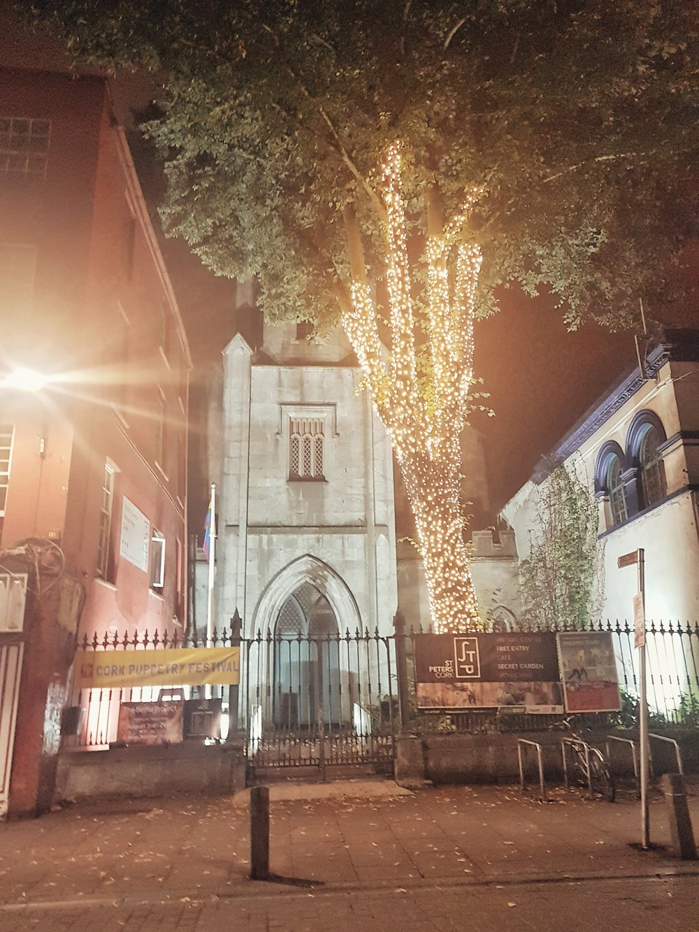 county cork. cork. ireland. irish. history. city. house sitting. old. travel. travel photography. travel photographer.  cork city at night. night time church..jpg