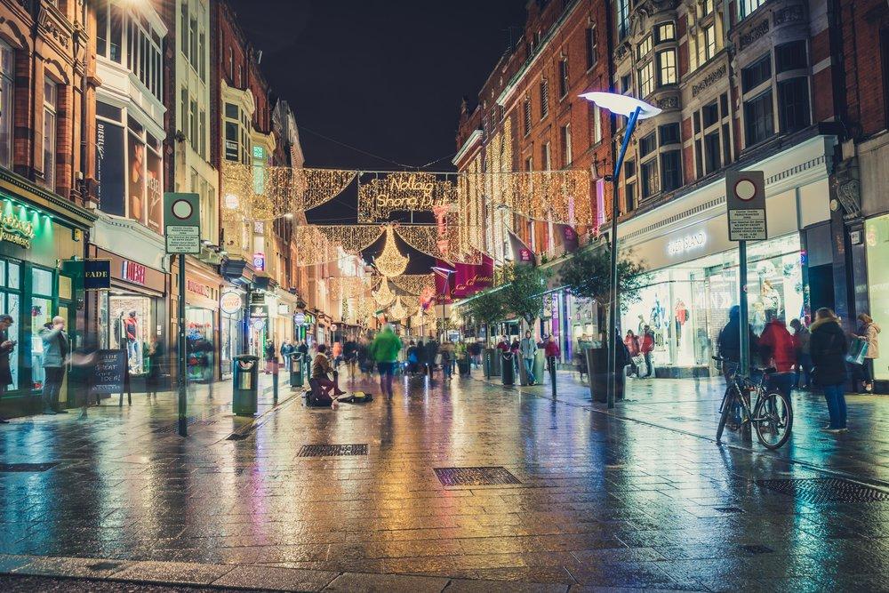 Dublin. Ireland. Chirstmas. Lights. buildings. travel. Dublin city. Christmas lights. happy christmas. graton street.jpg