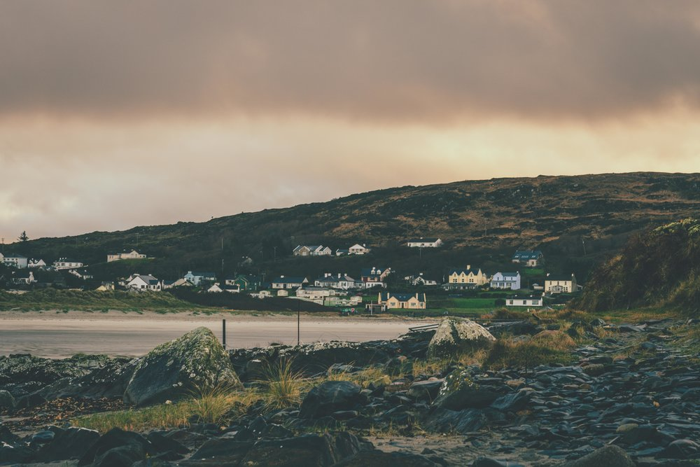 overlooking the sea in ireland and coast line