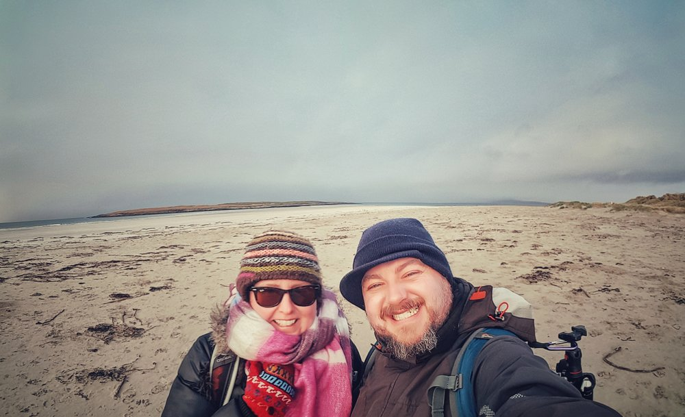 selfie of couple at the beach