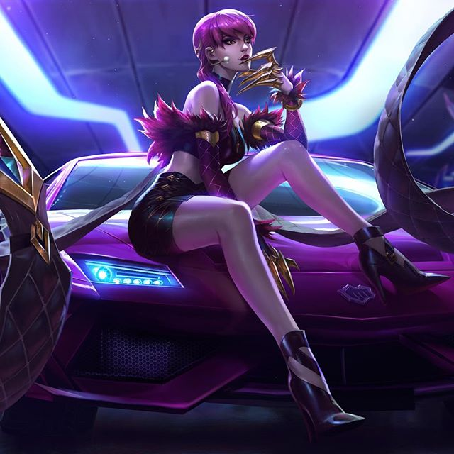 K/DA - POP/STAR EVELYNN - Splash  Teamed up with @chengweipan_art @chenbowow to create these splashes! Special thanks to @newmilky for the feedback on this one!  Swipe to see line-art and process. The exploration poses ended up helping to inform the music video, which I'm super flattered about! 👉  #KDA #evelynn #kdaevelynn #popstarevelynn #Popstars #Skins #popstarskins #leagueoflegends #Lol #riot #riotgames #ritopls #worlds2018 #gidle #madisonbeer #jairaburns #fortiche #splash #splashart #riotillustration #alvinlee #alvinleeart