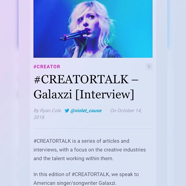 Loved speaking with @violet_cause of @pastel_wasteland_  about my creative process! 👽 💜 Thanks for the interview!