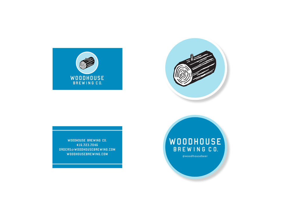 Woodhouse Brewing Co. , 2014 Secondary Logo Design © Andrew Watch