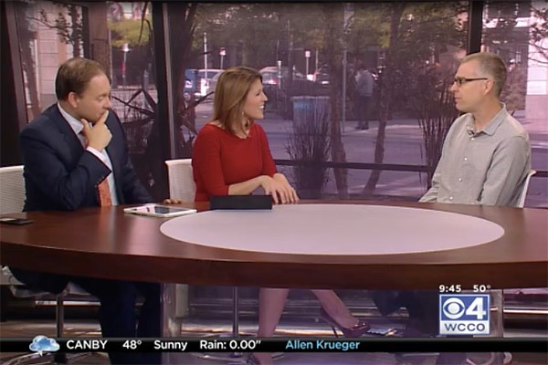 WCCO-TV's Mid-Morning show invited me to come on air and talk about Red War.