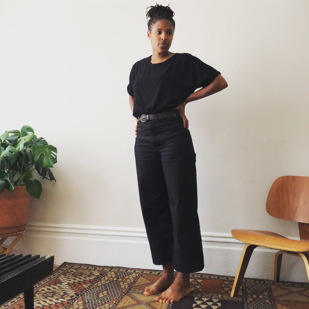 Persephone pants in black denim