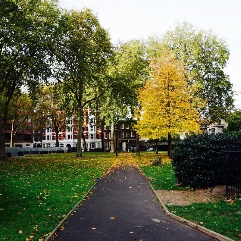 Charterhouse Square  Site of London's largest plague pit used at various times during the Black Death pandemic - part of the pit was unearthed during Crossrail works.