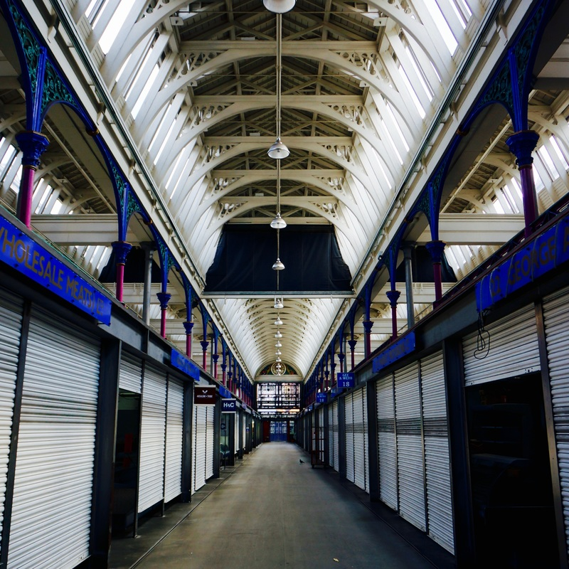Smithfield Market   Smithfield is one of London's oldest markets with meat being traded on the site for more than 800 years. A livestock market occupied the site as early as the 10th century. The present market was established by an Act of Parliament in 1860, with the permanent building designed by Jones. Work began in 1866 on the Central Market, inspired by Italian architecture, and was completed in 1868.