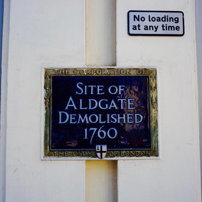 Site of Aldgate Demolished 1760