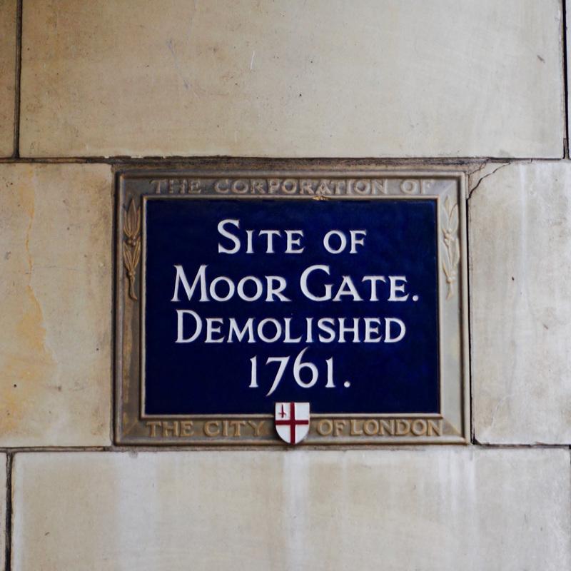 Site of Moor Gate Demolished 1761