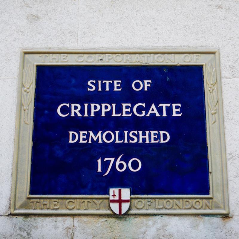 Site of Cripplegate Demolished 1760