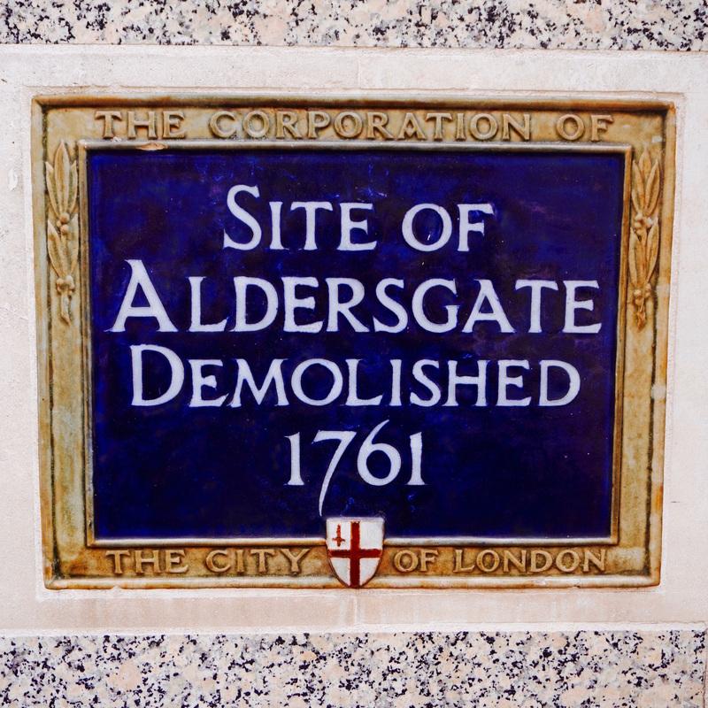Site of Aldersgate Demolished 1761