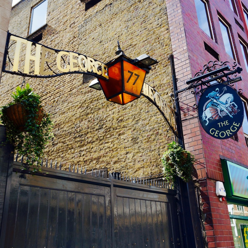 The George Inn, SE1  The George Inn was established in the medieval period and is currently owned and leased by the National Trust. It is the only surviving galleried London coaching inn and has links with Charles Dickens, and is referred to in Little Dorrit.