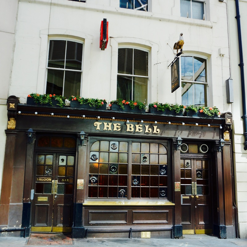 The Bell, EC4R  The Bell is said to be the oldest small pub in the City and has been trading since before the Great Fire, a roll of honour on one of the walls records the name of every landlord since 1673.