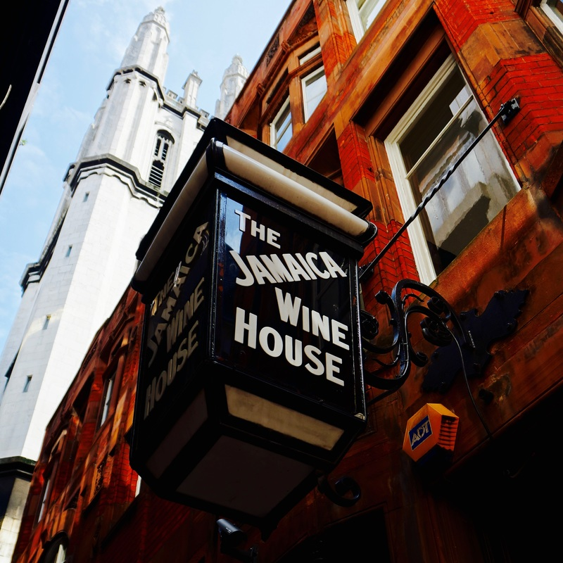 """Jamaica Wine House, EC3V  The Jamaica Wine House, known locally as """"the Jampot"""", was the first coffee house in London and was visited by Samuel Pepys in 1660 - it is now a Grade II listed pub."""
