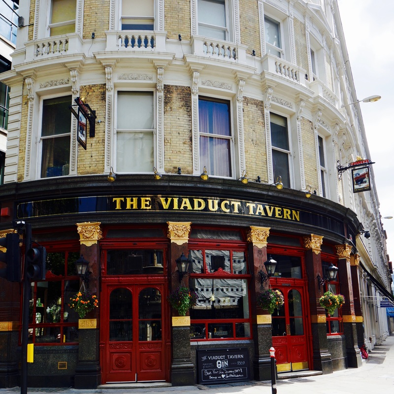 The Viaduct Tavern, EC1A  The Viaduct Tavern was built in 1874-75 and the interior was remodelled by Arthur Dixon in 1898-1900. It is Grade II listed and on CAMRA's National Inventory of Historic Pub Interiors.