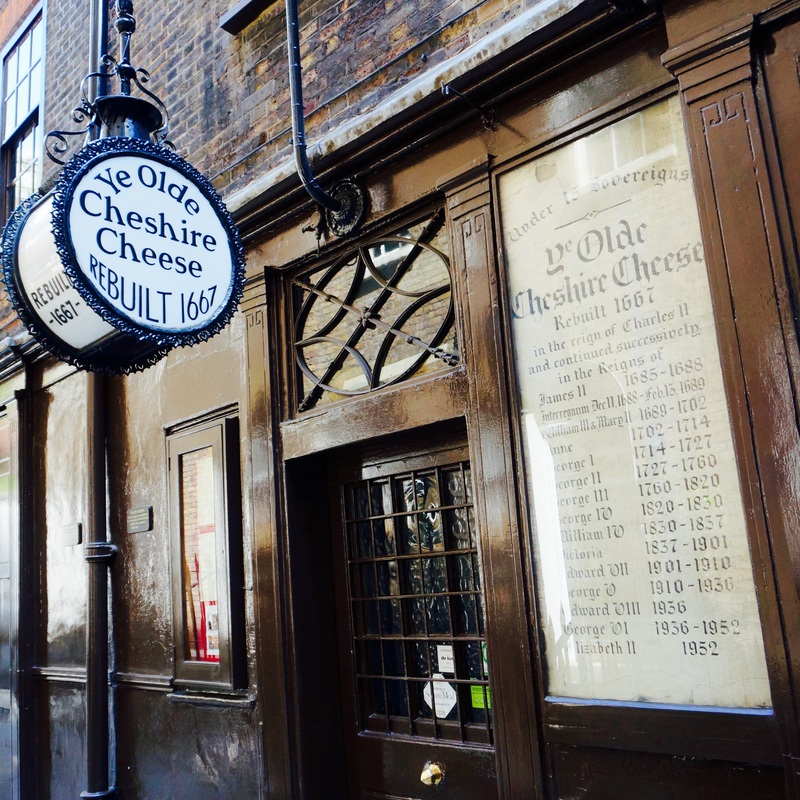 Ye Olde Cheshire Cheese, EC4A  Ye Olde Cheshire Cheese was rebuilt after the Great Fire but there has been a pub at the location since 1538.It is Grade II listed and on CAMRA's National Inventory of Historic Pub Interiors.