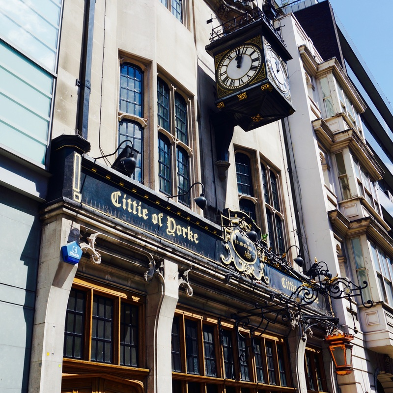 Citte of Yorke, WC1V  The Cittie of Yorke is Grade II listed and on CAMRA's National Inventory of Historic Pub Interiors. The current building is from the 1920s but there have been pubs on the site since 1430.