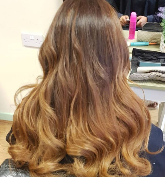 Beautiful bouncy curls, Balayaged to perfection!