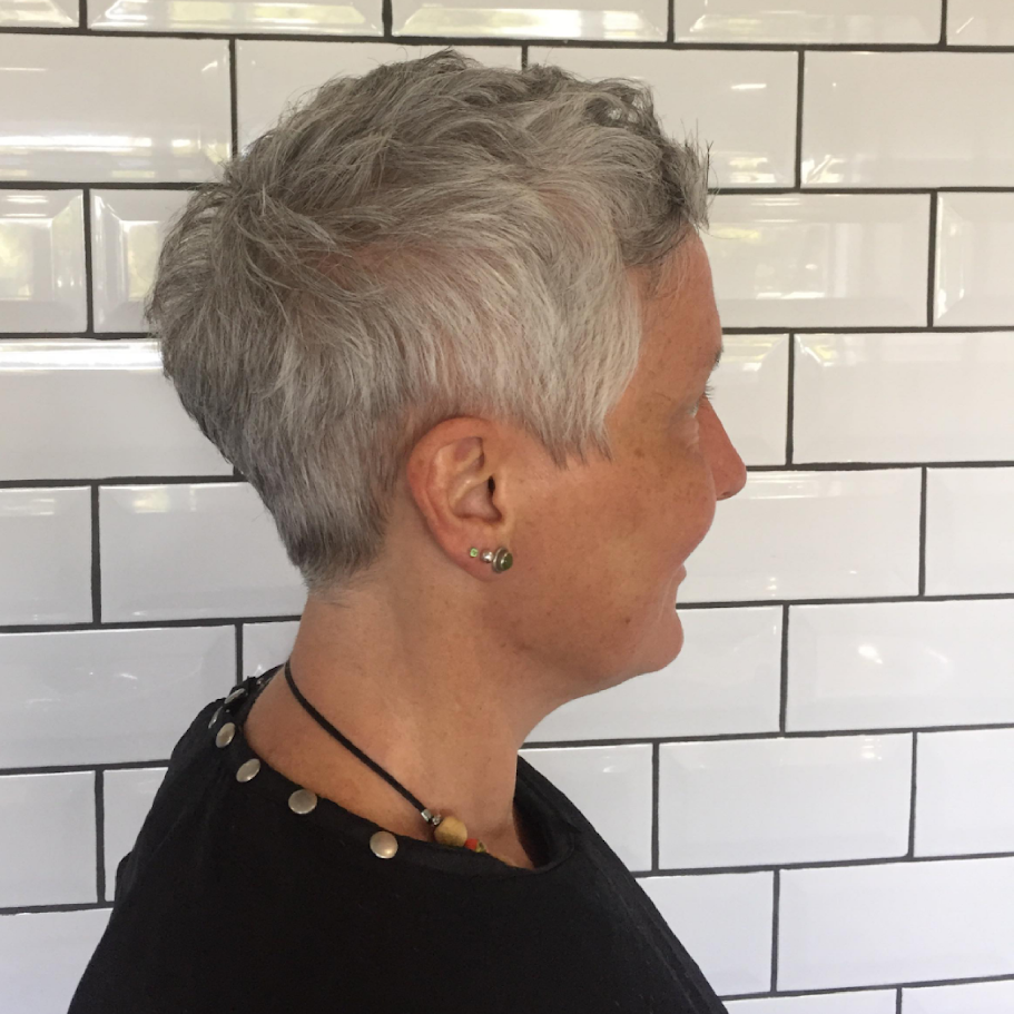 Beautiful grey crop by our Senior Stylist Freya