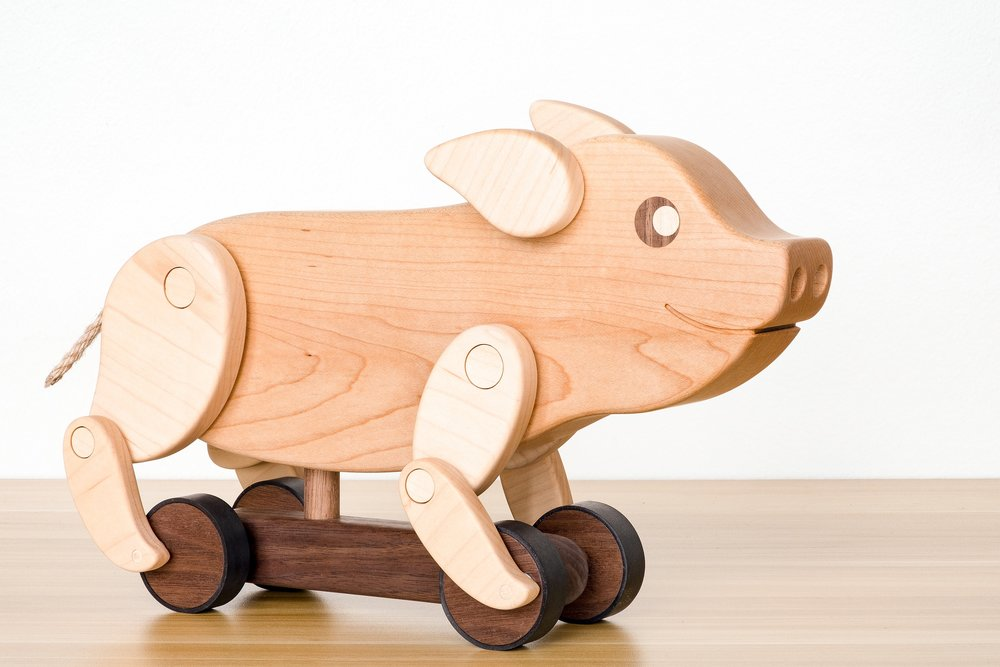 Pig Push Toy