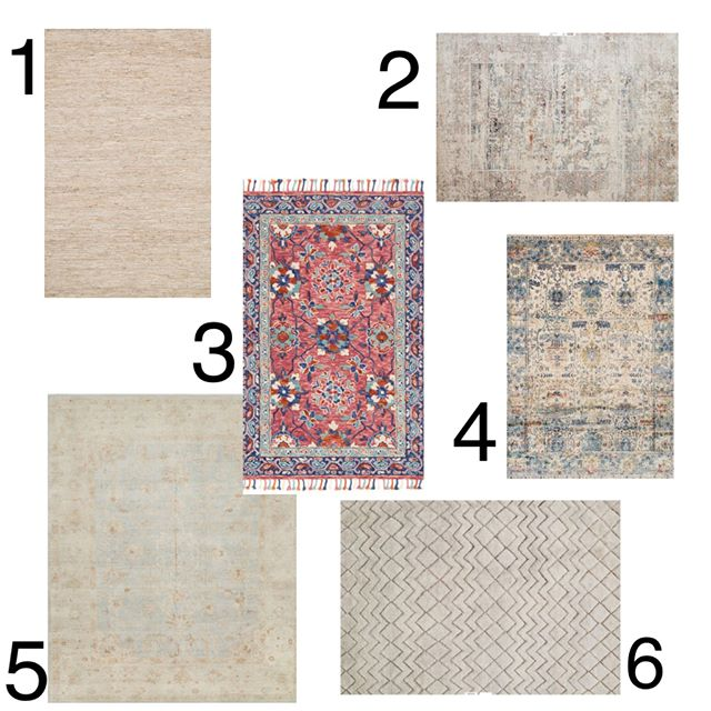 How bold are you with the rugs in your home? A couple of years ago my rug choices were very neutral and safe; I loved bold rugs, I just didn't have the confidence to use them in a space. Now I go with what I'm drawn to and build around that. Which of these rugs intrigues you the most, are you bold enough to use it in your home?