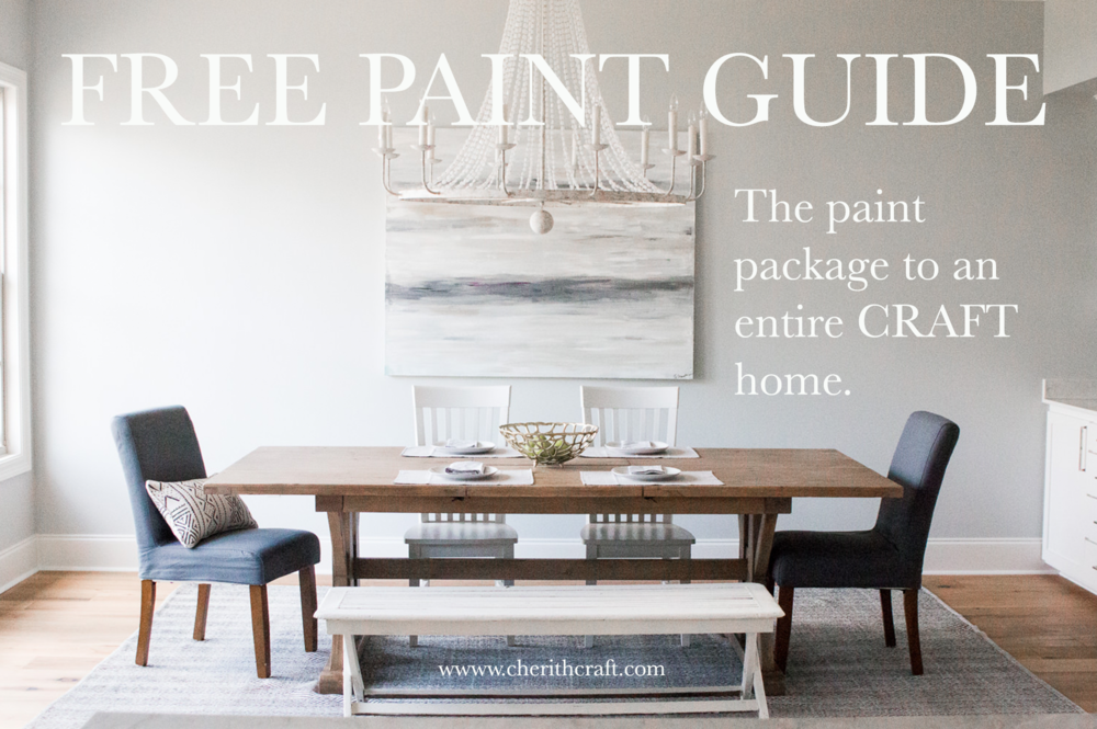 Free Paint guide to an entire CRAFT home