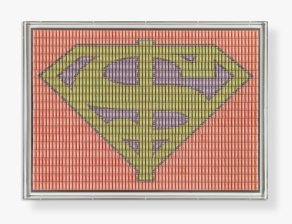 Santiago Montoya, Waiting for Superman (III), Paper money on stainless steel, 110 x 150 cm. Courtesy Halcyon Gallery, copyright Santiago Montoya.