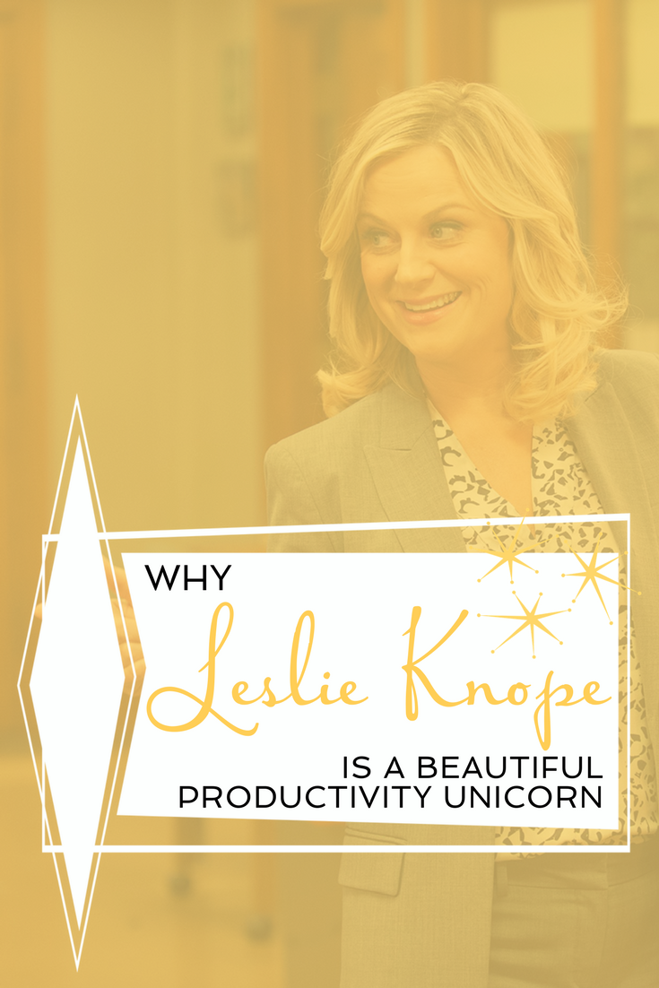 Kate Rufener Productivity Coach Leslie Knope