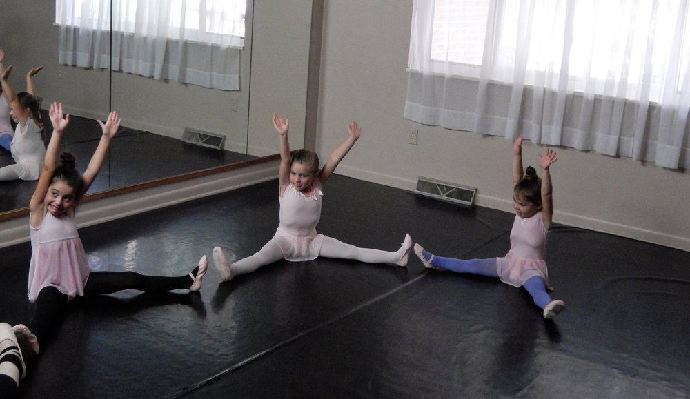 Children's Ballet Class Stretching