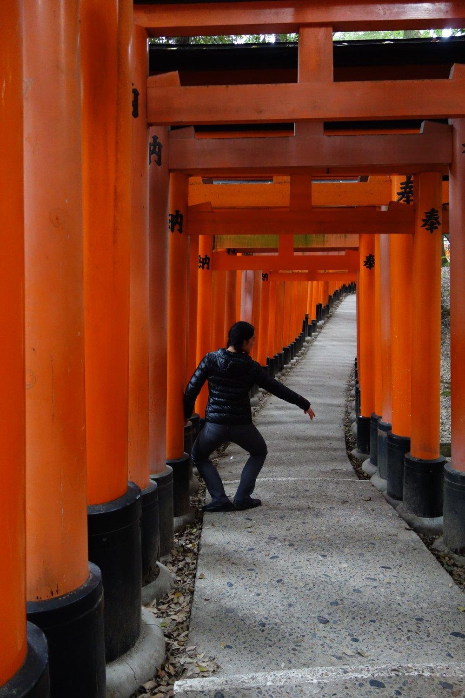 Kim in Kyoto, Japan