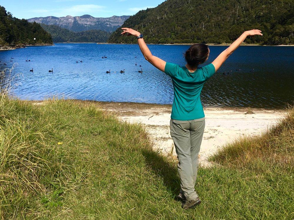 Mary at Waikaremoana Lake, New Zealand