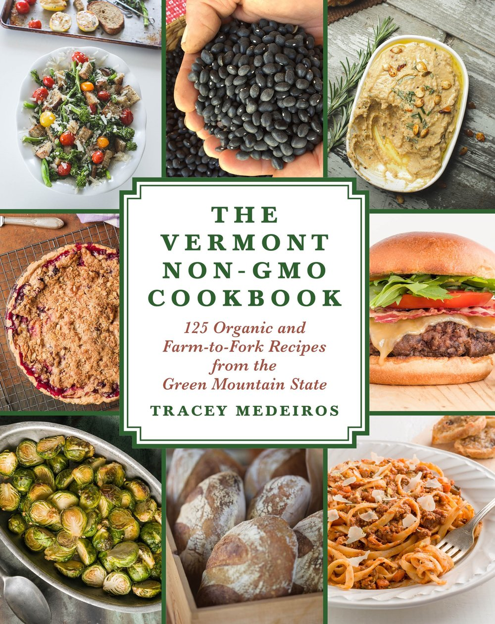 The Vermont Non-GMO Cookbook So Much More Than a Cookbook The Vermont Non-GMO Cookbook honors the state's mission to connect with its local organic farmlands and the farmers who nurture and care for them. It also serves as a guide for eating organically and non-GMO in Vermont. The book celebrates the region's esteemed organic food producers, farmers, cheesemakers, and dairy farmers as well as the the chefs who partner with them to create delicious, innovative, organic, and non-GMO recipes, such as:  ·  Maple Kale Salad with Toasted Almonds, Parmigiano-Reggiano Cheese, and Rustic Croutons ·  Oven-Roasted Organic Pulled Pork Sandwiches with Spicy Apple Cider Vinegar Slaw ·  Baked Frittata with Baby Spinach, Roasted Red Peppers, and Quark Cheese ·  Old-Fashioned Organic Cheesecake In addition to mouthwatering recipes, The Vermont Non-GMO Cookbook includes profiles of pioneering organic Vermont farmers, chefs, and non-GMO artisans. It will take you on a culinary adventure throughout the Green Mountain State, from Ben & Jerry's homemade ice cream to internationally inspired Kismet Kitchen to the busy Butternut Mountain Farm. Supported by rustic food photography, it will awaken and inspire your palate to the exciting options being offered by Vermont's burgeoning local, organic, and non-GMO food scene.  Skyhorse Publishing, Inc.  117 Main Street Suite 202 Brattleboro, VT 05301 Telephone: 802-579-1054 Link to Amazon.com