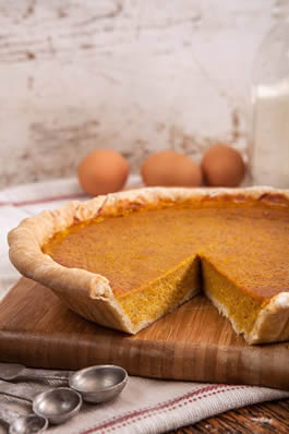 Maple Roast Pumpkin Pie