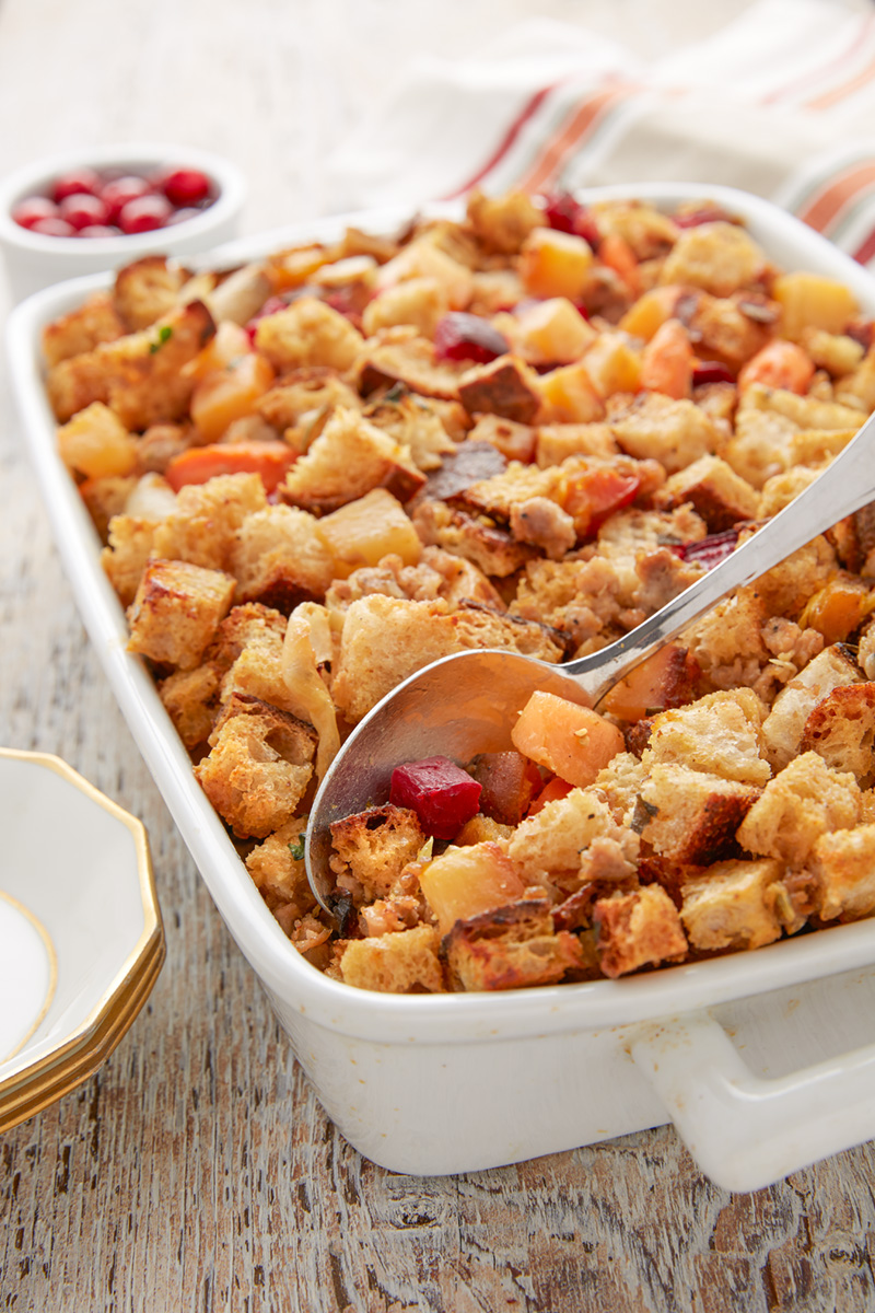 Roasted Root Vegetable and Artisan Handcrafted Sausage Stuffing