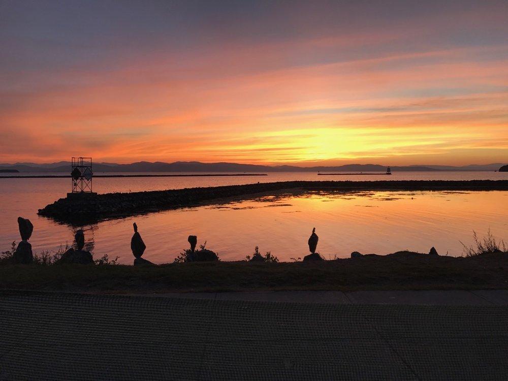 Beautiful night on the shores of Lake Champlain!