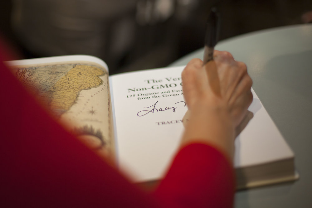 Each guest received a signed copy of   The Vermont Non-GMO Cookbook  .