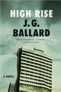 My favourite copy of J G Ballard's, High Rise. Albeit is a little rain beaten from reading outside.