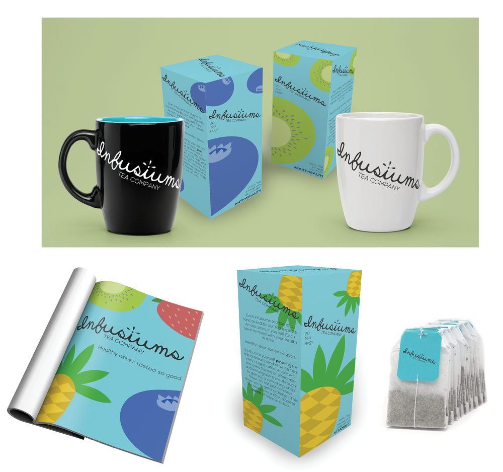 Infusiums Tea Company Branding Package
