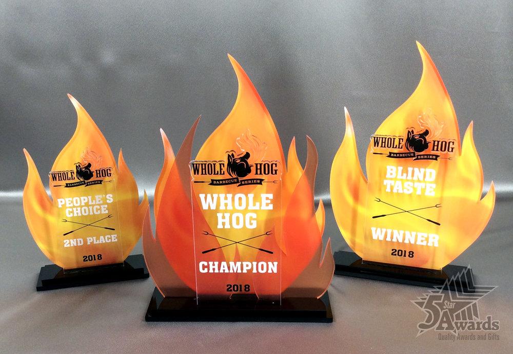 Whole Hog BBQ Competition Acrylic Awards