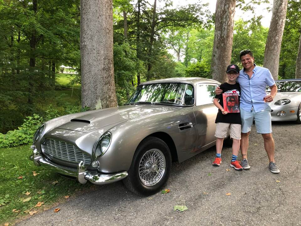 Liam and I in front of Don and Linda's DB5. -Photo courtesy of Rick Hopkins