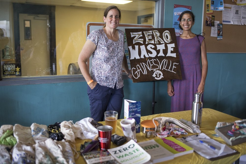 Amanda Waddle and Nina Bhattacharyya of Zero Waste Gainesville